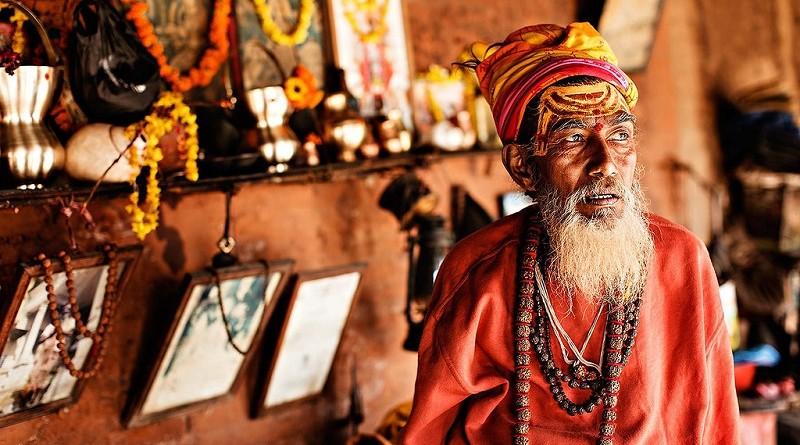 Индийский монах Рхами