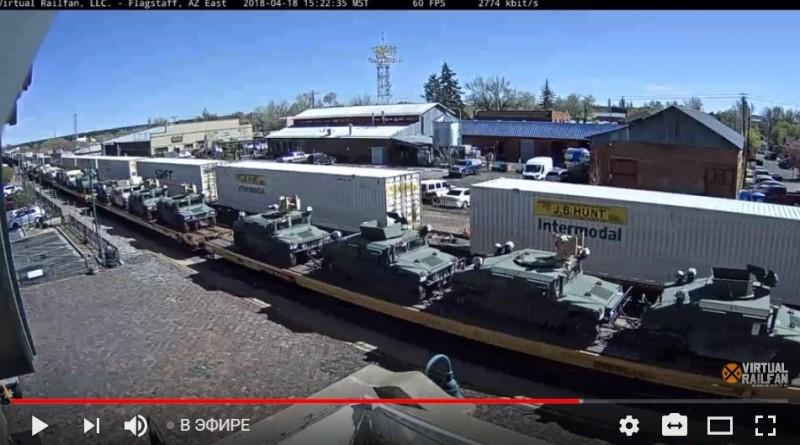 Железные дороги в США забиты поездами с военной техникой. Переворот, война или учения?