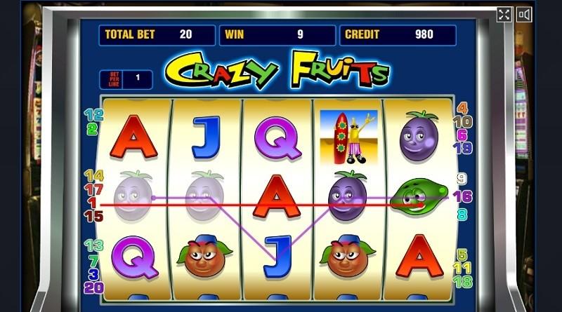 Игровой аппарат Crazy fruits - его особенности и функции