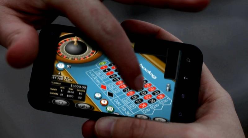 Игра в онлайн-казино на планшете