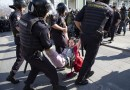 Как задерживали митингующих в Москве на Трубной площади
