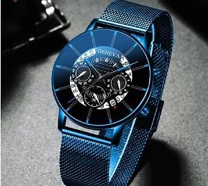 Роскошные мужские модные бизнес часы с календарем