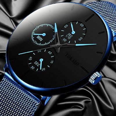 2020 Мужские часы мужские светящиеся кварцевые часы