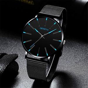Простые мужские деловые часы из нержавеющей стали