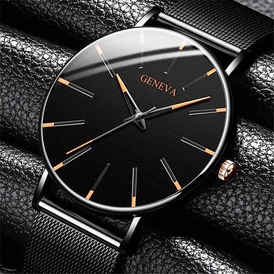 2020 минималистичные мужские модные ультра тонкие часы