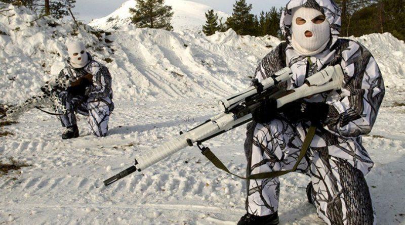 Снайпер укрылся в снегу. Попробуйте его обнаружить на фото