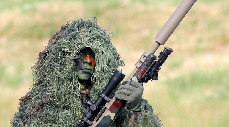 Снайпер укрылся в обломках разрушенного здания. Попробуйте вычислить стрелка