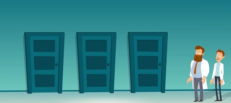 Выберите правильную дверь и помогите ученым спастись - 60% не проходят