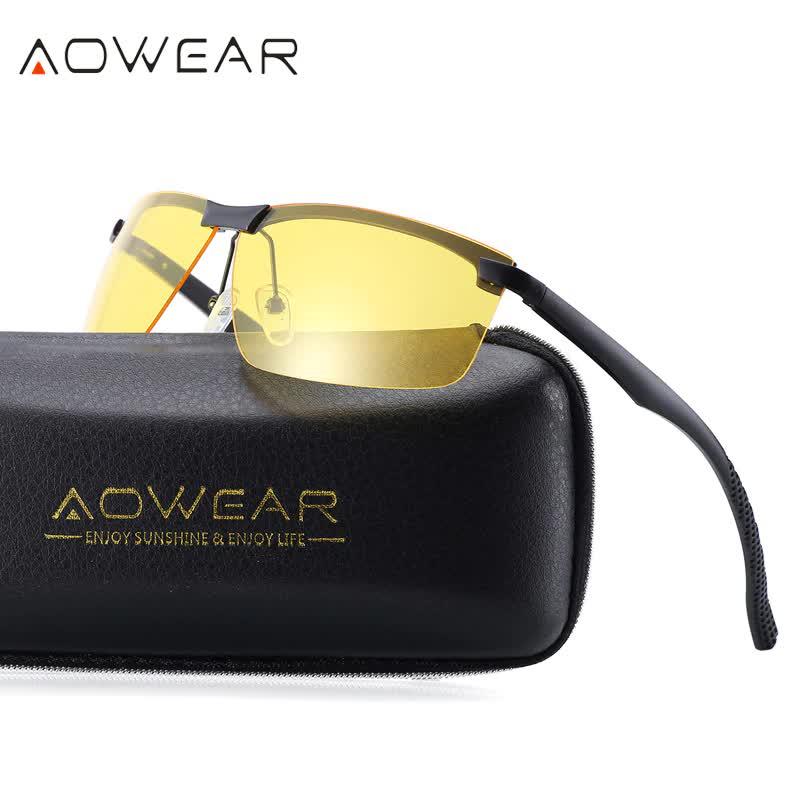 Мужские очки ночного видения для вождения AOWEAR востребованы на Алиэкспресс