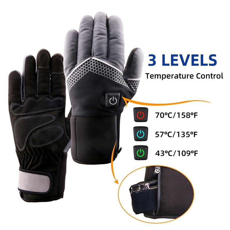 Перчатки с электрическим подогревом и регулировкой температуры