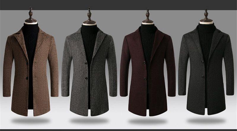 Мужское шерстяное пальто купить по доступной цене